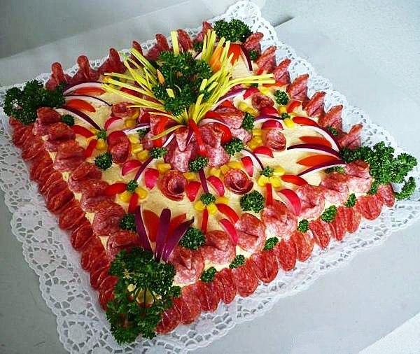 закусочные мясные тортики фото